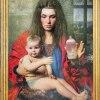 """Hans Memling &quot;Madonn<br />a z Dzieciątkiem i z jabł<br />kiem"""", 1487 / 2016 pastis<br />z fotograficzny"""